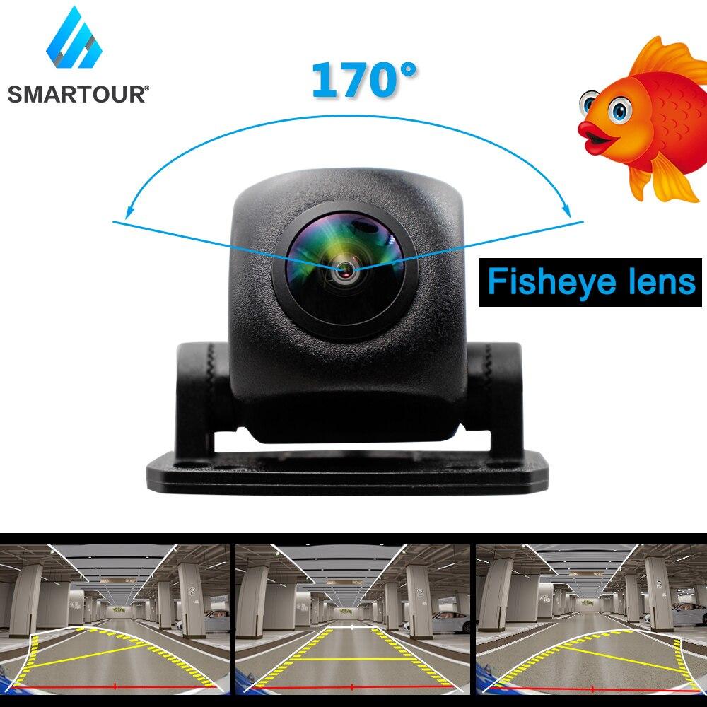 Smartour HD 1080P объектив «рыбий глаз», Автомобильная камера заднего вида с камерой заднего вида, динамическая траектория, парковочная линия, авто...
