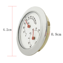 Portable Violin Temperature Meter Round Guitar Dry Wet Hygrometer Thermometer Humidity