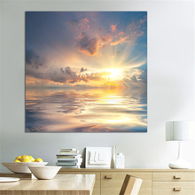 Beautiful Seascape and Sunrise Pictures Art Modern Living room&Dinning Room Decoration Canvas Painting Wall Prints