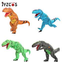 Jyzcos adulto t rex traje inflável dinossauro traje festa de halloween anime cosplay traje para as mulheres dos homens crianças carnaval traje