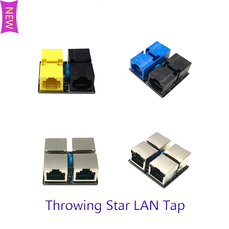 New Throwing Star LAN Tap Network Packet Capture Mod 100% Original Replica Monitoring Ethernet Communication Passive Ethernet