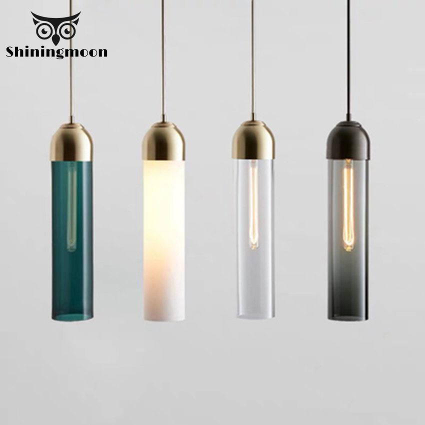 Modern Creative Glass Strip Pendant Lights Nordic LED Dinning Room Living Room Pendant Lamp Bar Coffee Store Home Decor Hanglamp