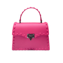 Female Handbags Crossbody-Bags Rubber Orange Rose-Red Silver Yellow Women Girls PVC Candy-Color