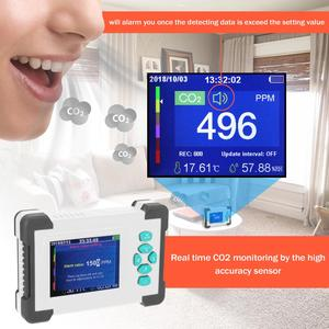 Image 3 - KKmoon CO2 متر ثاني أكسيد الكربون كاشف نوعية الهواء للكشف عن مراقب CO CO2 HCHO TVOC كاشف CO2 رسالة للمكتب في الهواء الطلق