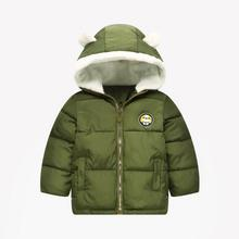 Cute 3- 7y baby girls jacket kids boys fashion coats with ear hoodie autumn girl clothes infant clothing childrens jackets
