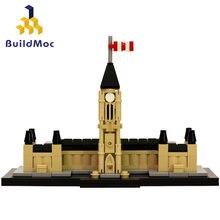 Cidade compatível arquitetura parlamento edifícios do canadá paris cidade marco blocos de construção crianças montar tijolos brinquedos