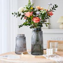 Modern Glass Vase Table Decor Living Room Tall Vase Living Room Vase Transparent Flower Vase Decoration Home Glass Decor Gifts
