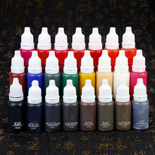 23Pcs 15Ml Ink Permanent Makeup Pigment  Cosmetic Tattoo Ink Set Paint For Microblading Eyebrow Lip Body Makeup 23 Color недорого