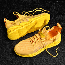 Hemmyi Couple Sneakers Hot New Fashion Yellow Sneakers Comfortable Outdoor Mens