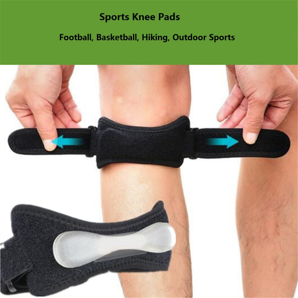 1Pcs Adjustable Knee Support Professional Strengthened Gel Knee Brace Strap Breathable Leg Knee Foot Care Tool Pads