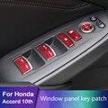 Для Honda Accord 10th Inspire 2019 2020 украшение из алюминиевого сплава одно касание кнопка пуска паста украшение интерьера 4 двери/с