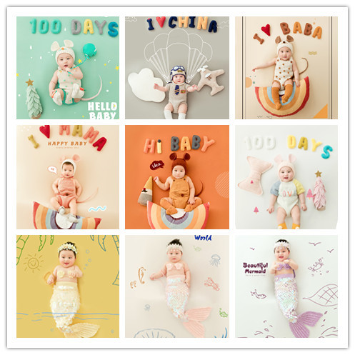 100 Days Baby Photography Newborn Baby Theme Clothing Props Photographic Photography One Hundred Creative DIY Clothes