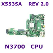 X553SA With N3700 CPU Mainboard REV 2.0 For ASUS X553S X553SA Laptop motherboard 60NB0AC0-MB1050 Tested Working Free Shipping