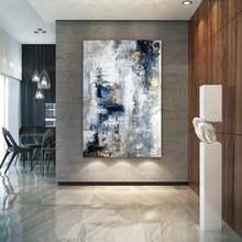 Большая абстрактная живопись, Современная Абстрактная живопись, масляная ручная живопись, офисный настенный арт, абстрактный, текстурированное Искусство Ручная роспись