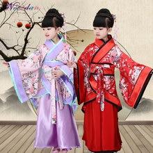 Традиционные китайские танцевальные костюмы для девочек древняя