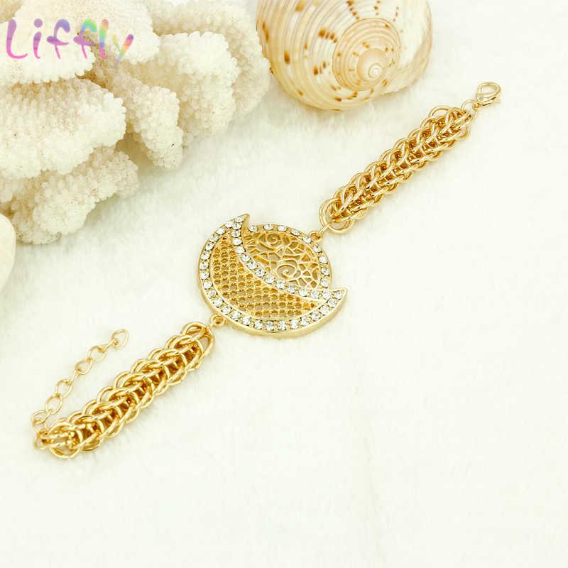 Liffly ensembles de bijoux africains femmes classique collier boucles d'oreilles anneau Bracelet bijoux de mariage cristal pendentif ensembles de bijoux pour les femmes