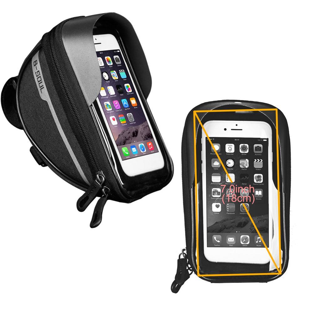 Vélo vélo tête Tube guidon cellule téléphone portable sac étui support sacoche étanche écran tactile Polyester vélo sacs