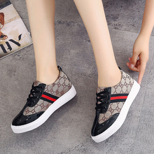 PU Lace-up Ladies Shoes Comfortable Flat Shoes Women Casual