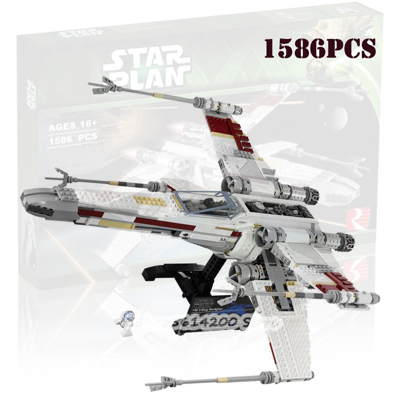 Compatible with Lepining 05039 New Starwars Red Five X-wing 10240 81041 Children Toy Gift Building Block Airplane image