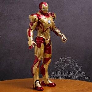 Image 2 - Iron Man Mark MK 42 Vàng Người Sắt Nhựa PVC Đồ Chơi