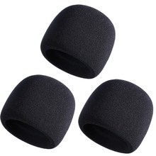 Mic Cover Sponge Microphone Windsn For Blue Yeti, Yeti Pro Condenser Microphone (Black, 3 Pack)(China)