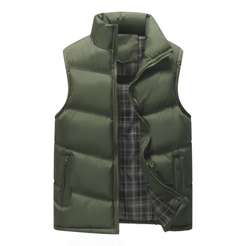 Nice New Winter Vest Men Brand Vest Autumn Male Outwear Cotton-Padded Waistcoat Sleeveless Jacket And Coast Warm Vest 5XL фото