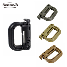 Shackle Carabiner Army D-ring Clip Molle Webbing Plastic Backpack Buckle Snap Lock Grimlock Camp Hike Mountain climb Outdoor