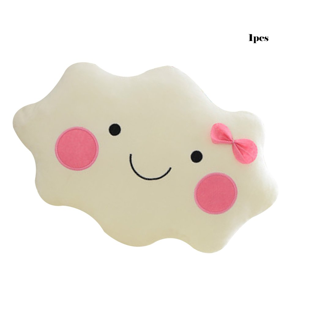New Large Cartoon Cloud Plush Pillow Super Soft Cushion Lovey Smile Cloud Stuffed Plush Toys For Children Baby Kids Girl Gift
