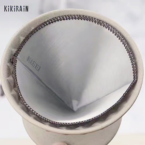 Reusable V60 stainless steel filter,soft coffee Fine-grained filter free paper Hanging Ear Style Coffee Filter High Quality(China)
