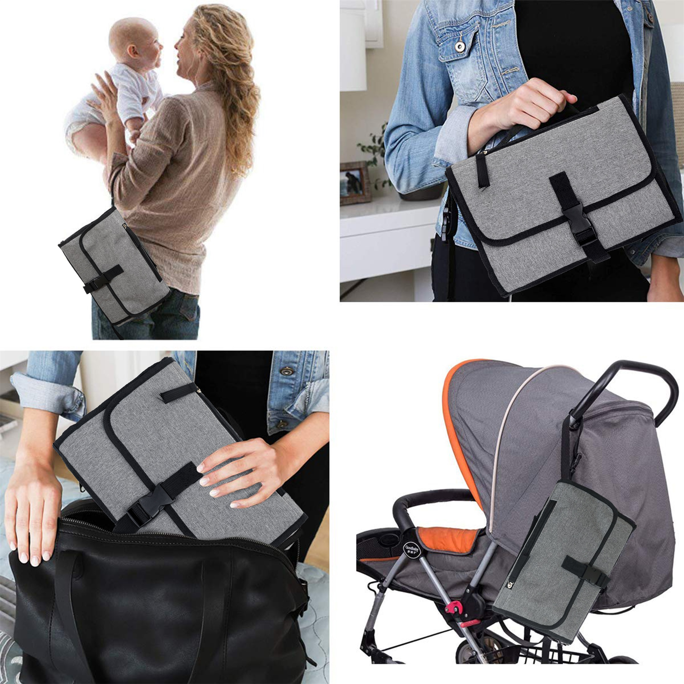 New 3 in 1 Waterproof Changing Pad Diaper Travel Multi function Portable Baby Diaper Cover Mat