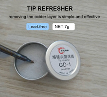 Gudhep Lead free Soldering Iron Tip Refresher Clean Paste Oxide Solder Iron Tip Head Resurrection Repair Tools uanme high quality 100% bs 2 lead free solder tip refresher soldering solder iron tip refresher paste made in japan