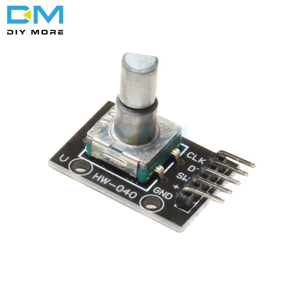 KY-040 360 градусов поворотный переключатель кодировщик модуль с 15x13,5 мм потенциометра Половина вала отверстие колпачки для регулятора для Arduino