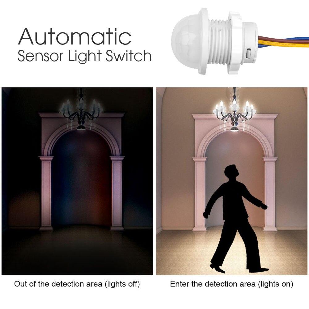 Hot Light Switch PIR Sensor Detector Smart Switch LED 110V 220V PIR Infrared Motion Sensor Switch Auto On Off 5