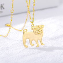 Золото зодиака кулон с животным собакой ожерелья для женщин