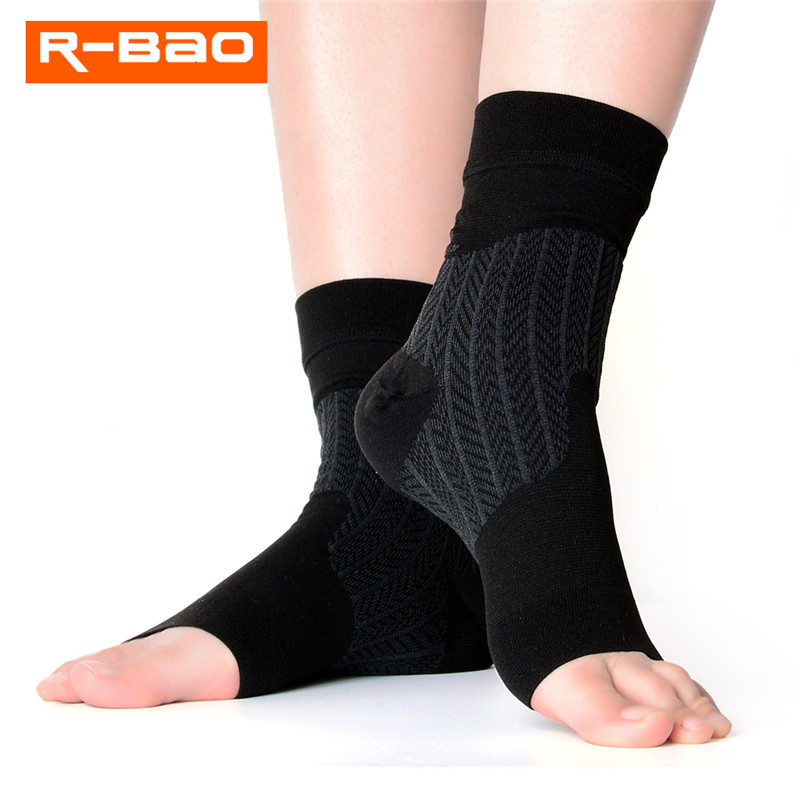 1 Pair Elastic Ankle Support Brace Compression Ankle Protectors Socks for Badminton Basketball Football Taekwondo Fitness
