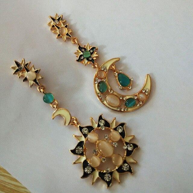 Todorova Lovely Asymmetric Bee Sun Flower Zircon Crystal Earrings for Women Girl Korean Style Earrings boucle d'oreille Fine Jewellery Jewellery & Watches