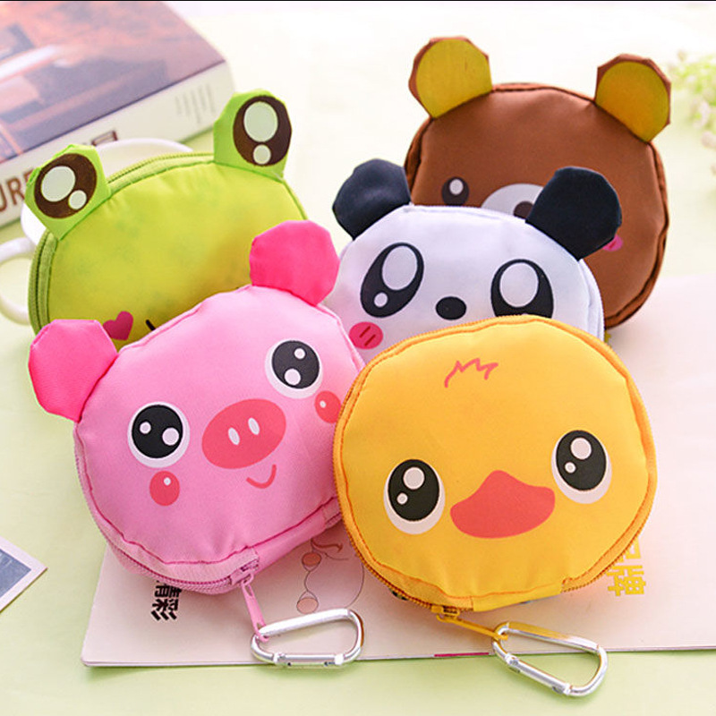 2020 Cartoon Animal <font><b>Folding</b></font> <font><b>Bag</b></font> <font><b>Japanese</b></font> Style Green <font><b>Shopping</b></font> <font><b>Bag</b></font> with Aluminum Buckle Fashion Portable <font><b>Folding</b></font> Nylon <font><b>Bag</b></font> image