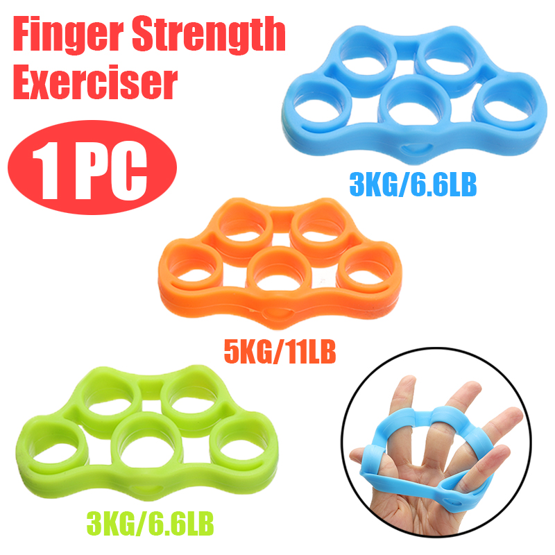 Mayitr Silicone Finger Stretcher Hand Exerciser Grip Strength Wrist Exercise Trainer Sports Yoga Resistance Bands Finger Gripper