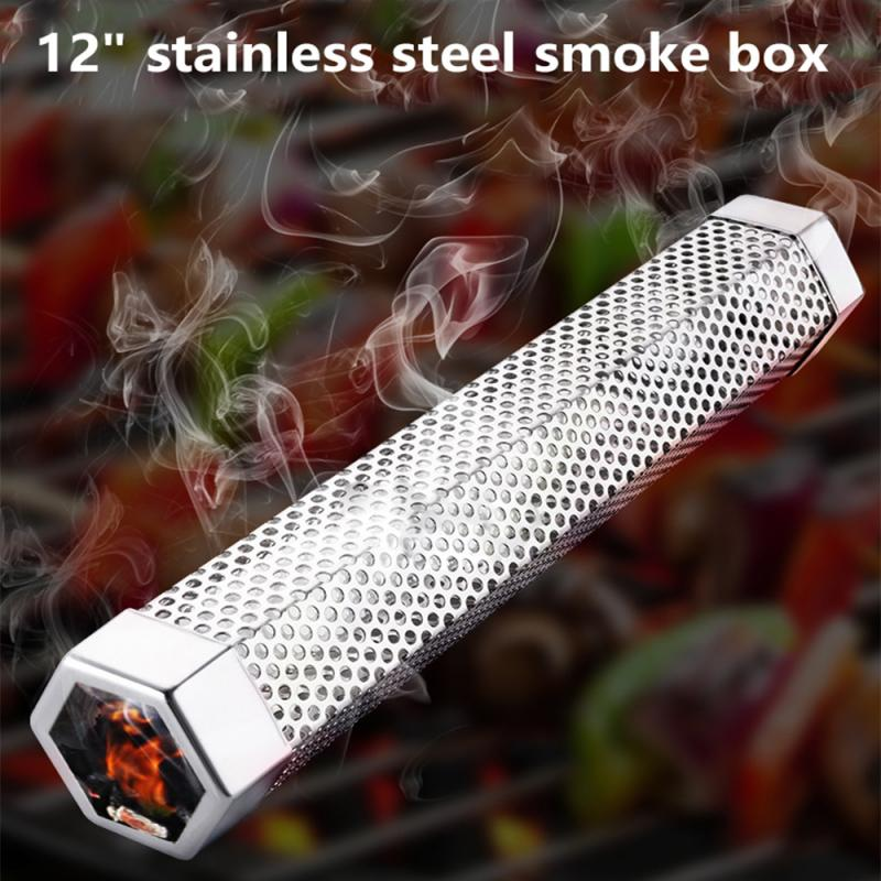 Stainless Steel Barbecue Grill Humidifier BBQ Accessories Cold Smoke Generator Cooking Tools Cold Smoking Box Meat Fish Meshes    - AliExpress