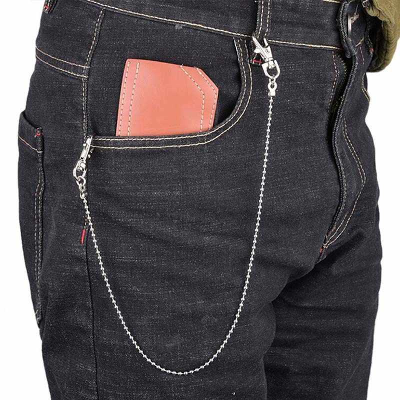 47CM moda Punk portfel męski łańcuch do paska piłka metalowe spodnie łańcuch do dżinsów spodnie CarFor mężczyzn kobiet