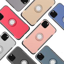50 sztuk odporny na wstrząsy pancerz uchwyt samochodowy Kicksatnd magnes Case dla iPhone 12 Mini 11 Pro Max XS XR X 8 7 6 Plus SE metalowa osłona palca tanie tanio GRANDBOOM CN (pochodzenie) Aneks Skrzynki Anti-knock Apple iphone ów Iphone 6 Iphone 6 plus IPHONE 6S Iphone 6 s plus