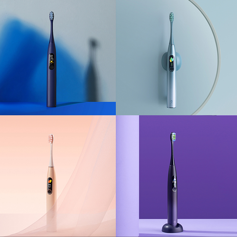 Oclean X Pro Sonic Electric Toothbrush 2H fast charge lasts 30 days 32 Intensities Adult IPX7 Color Touch Screen Toothbrush