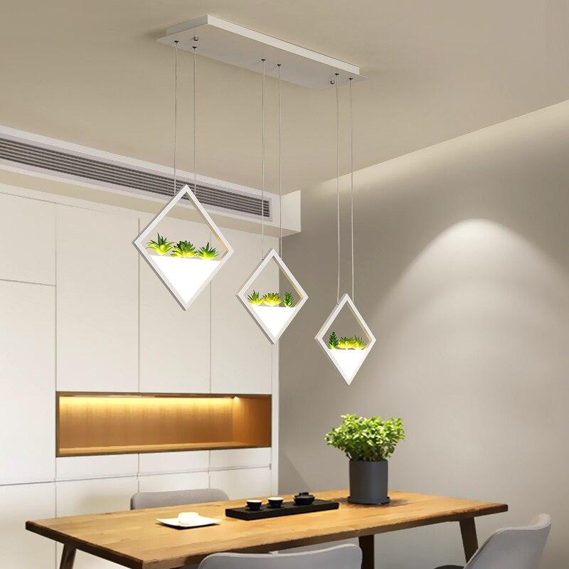 Nouvelles lumières de pendentif LED modernes pour salle à manger salon cuisine suspendus lumières luminaire suspendu noir/blanc suspension