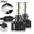 Автомобильные светодиодные лампы Infitary с 4 боковой подсветкой H7 H4, лампы для фар 6500 лм, 90 Вт, 9005 K, H11, H13, 9006, HB3, HB4, автомобильные фары Canbus ICE
