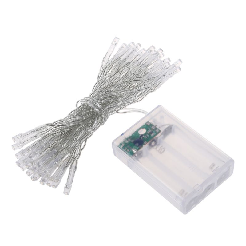 Battery Power White 4M 40 Led String Fairy Party Festival Decor Light Lamp Xmas Lights