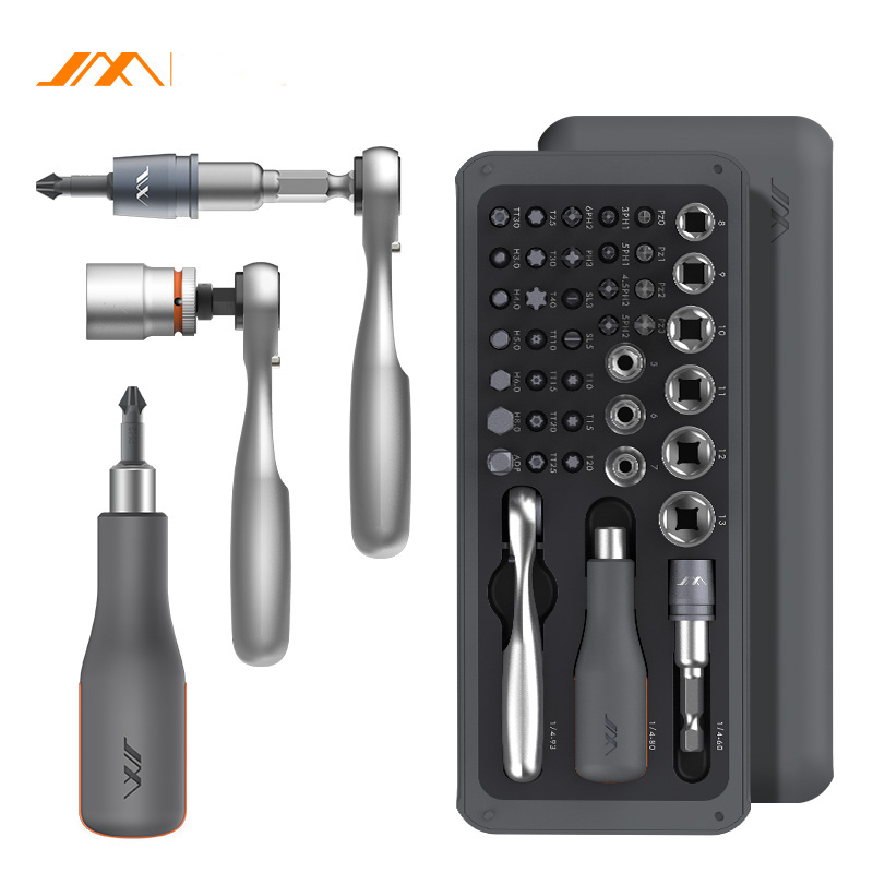 JIMI 41 IN 1 Screwdriver S2 Magnetic Bits Ratchet Wrench Screwdrivers Kit DIY Household Repair Tool|Hand Tool Sets| |  - title=