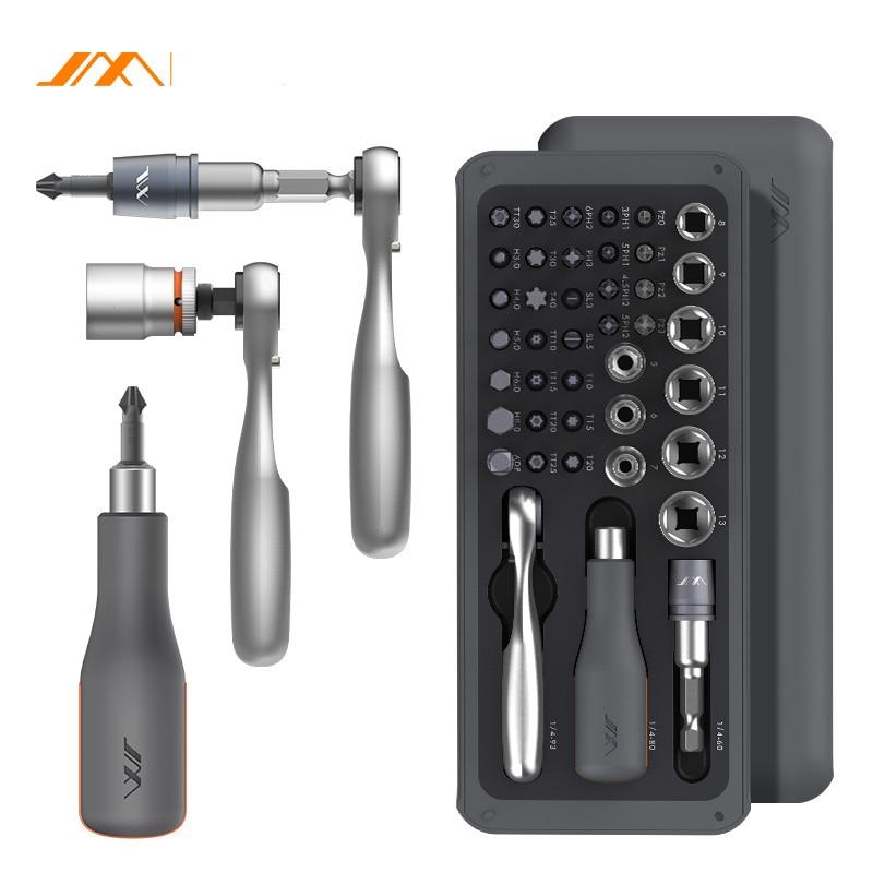 JIMI 41 IN 1 Screwdriver S2 Magnetic Bits Ratchet Wrench Screwdrivers Kit DIY Household Repair Tool