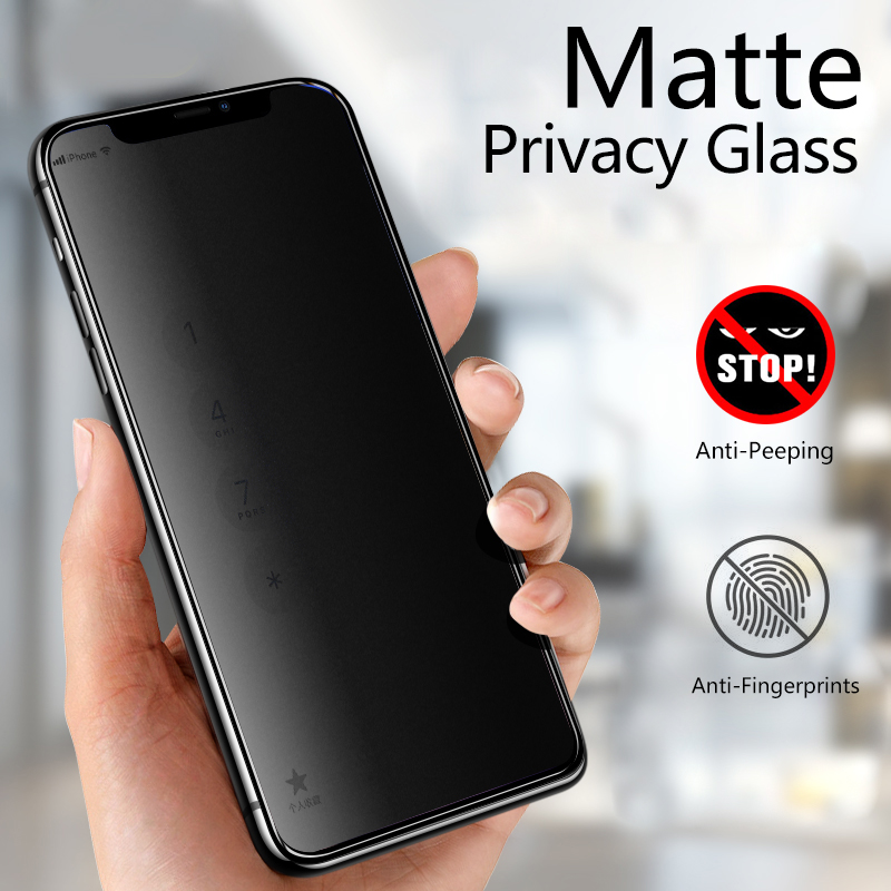 2pcs Frosted Matte Screen Protector Tempered Glass For iPhone Models 3