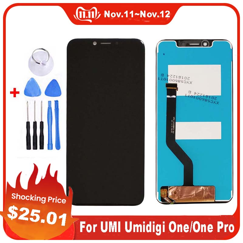 For UMI Umidigi One LCD Display +Touch Screen Assembly Digitizer Replacement For UMI Umidigi One Pro LCD Display free Tools