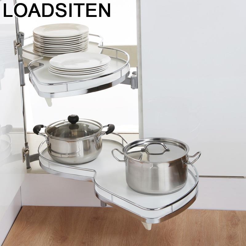Cestas Corredera Mutfak Malzemeleri Pantries Despensa Gabinete Stainless Steel Hanging Rack Cocina Kitchen Cabinet Basket